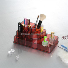 clear acrylic plastic makeup box for lipstick make up organizer