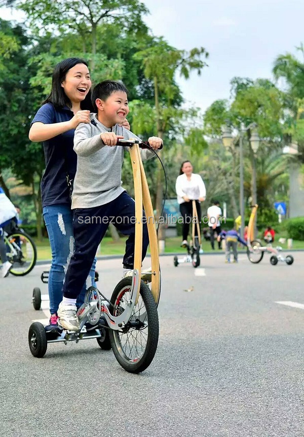 Foldable stand up spinning running petrol bike 3 wheel tricycle