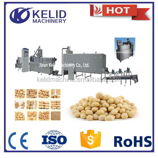 extrusion machines for full fat soya protein food with CE certificate