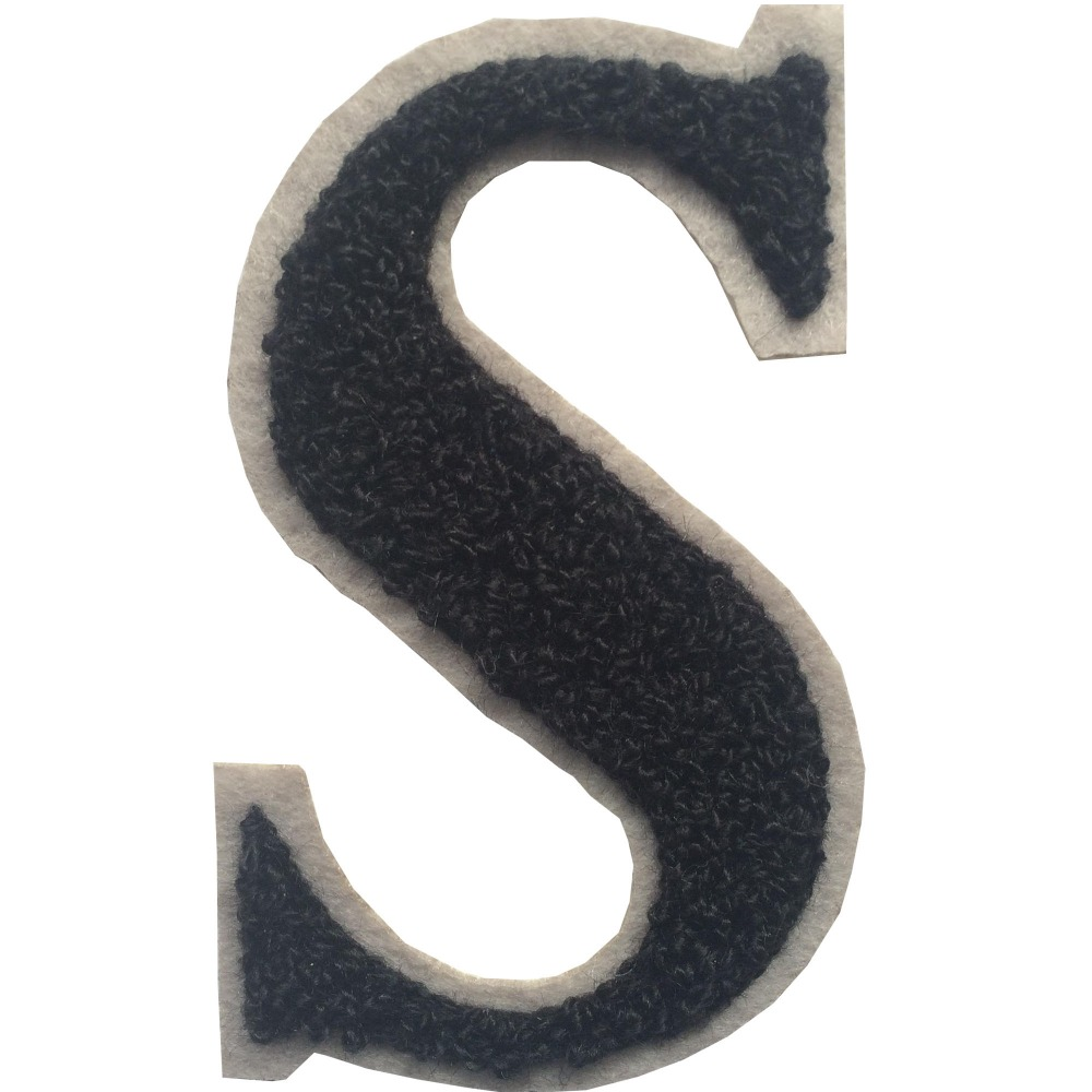 factory direct embroidered towel letter iron on patches With iron on letters for towels