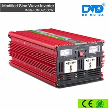 Hot sale 2000w portable solar panel inverter dc 12v to ac 220v for homeage solar power system