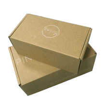 Custom made recyclable corrugated paper packaging shipping box