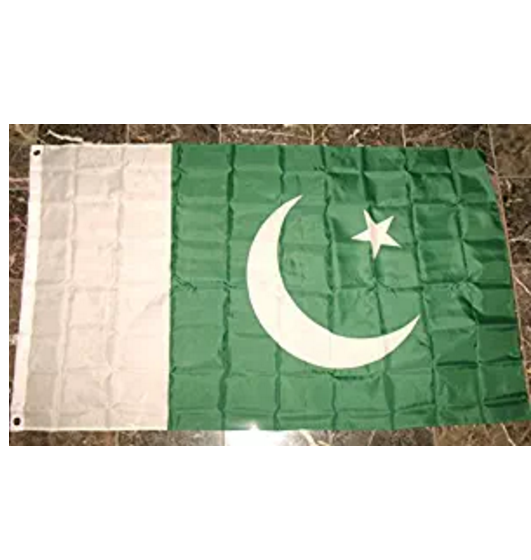 100% Polyester material all sizes cheap price Pakistan flag
