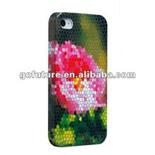 Private new designed seasonal flower, new style cover case for apple iphone4/4S