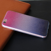 oem manufacturer custom flashing powder mobile tpu phone cover