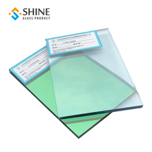 High quality 6mm green tempered reflective glass for building tinted glass