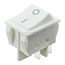 DPST ON-OFF White Rocker switch 4Pin 16A 125V AC 16A 250V AC