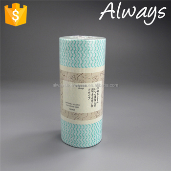 Red Reusable Non-woven Spunlace Nonwoven Furniture Cleaning Rolls