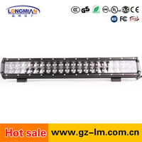 High quality dual row 126w waterproof IP67 10~30V cre e off road led light bar