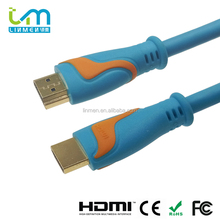 Linmen OEM Gold Plated 24K Connector Blue PVC Jacket HDMI Cables ROHS CE FCC Certified