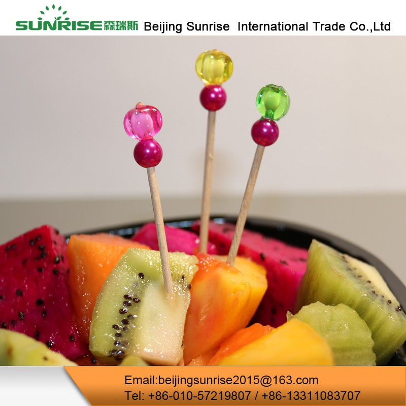 2017 Custom Wedding Beaded Fruit Food Picks Party Decorations