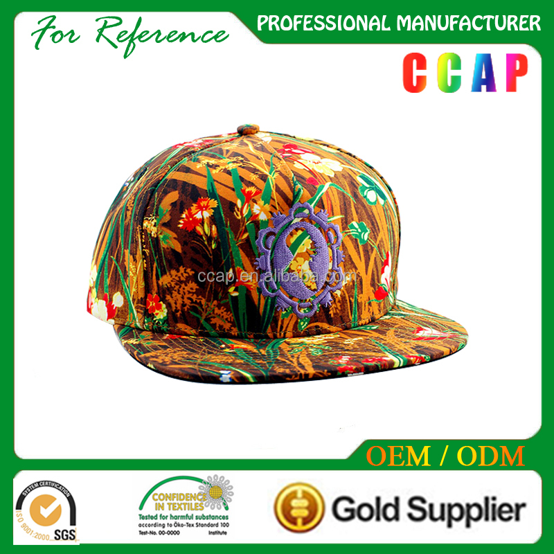 Hat manufacturing customize printing snapback hat and cap