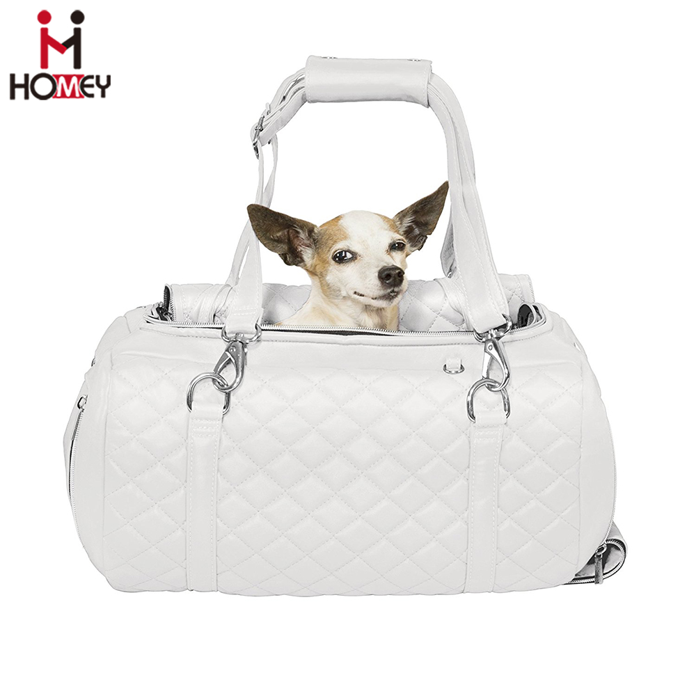 Luxury Dog Handbag / Deluxe Pet / Carriers, Leather