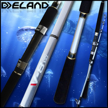Deland 2015 New High Quality Light Boat Rod,Frosted Silver White Fuji Parts Carbon Fishing Rod
