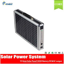 15W Portable multi function all in one Solar system for camping