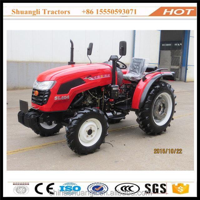 China low price 4x4 mini mahindra farm tractor 404 with front loader