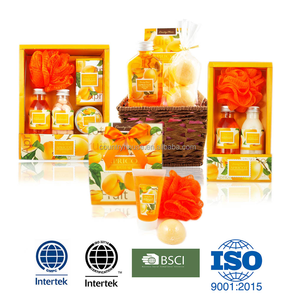 Apricot collection premium toiletry gift bath set