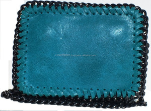 GENUINE LEATHER BLUE HANDBAGS