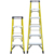 Wholesale orange color frp reinforced plastic tray 8 steps fiberglass A frame ladder