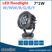 high-power contemporary 110V/220V floodlight led spotlight 7W flood led light fixture