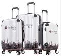 Travel cabin size abs suitcase with wrap angle