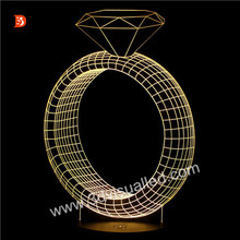 Living Room Decorative 3D LED Ring Light Fitting 3D Night Light