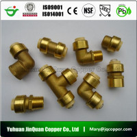 27 cUPC NSF approved High Quality Lead Free Brass quick connect pipe fittings