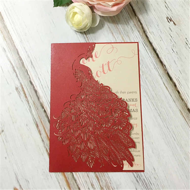 Red Chinese Wedding Invitation Card, Red Chinese Wedding Invitation ...