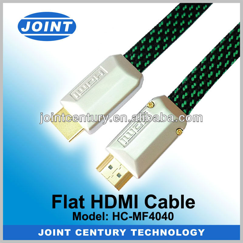 Premium Pro Metal Finished 10m 10 meter metre Gold HDMI to HDMI Video Lead Cable, OFC Fully Sheilded