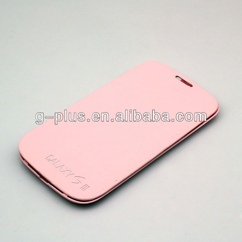 Light Pink Leather Flip Cover Carrying Case Pouch for Samsung Galaxy S3 SIII GT-i9300 i9300