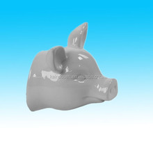 Decorative white Ceramic Pig Head Wall Decor