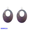 iron purple earring costume jewelry ear drop