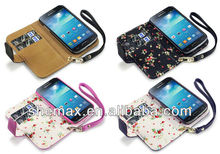 Manufacturer cell phone case for samsung s4 back cover With Floral Interior