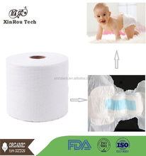 Diapers Raw Materials Hydrophilic Spunlace Nonwoven Fabric 100% Cotton