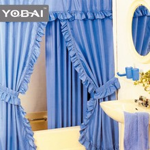 elegant double swag shower curtain with valance