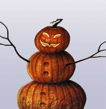 personalized resin craft halloween pumpkin man