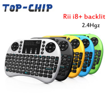 Rii i8+ 2.4G Mini Wireless Keyboard with Backlit Backlight Multi-touch Touchpad US Layout Handheld for Andriod TV Box