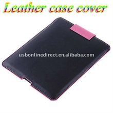 Pink Black Leather Case Cover for iPad 2 iPad2