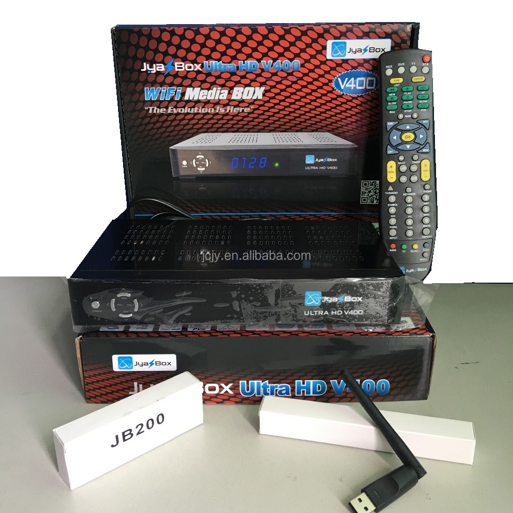 Stocks for original Jyazbox ultra hd V400 midia box with wifi jb200 turbo 8psk