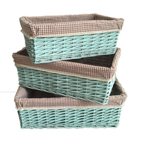 Willow Storage Baskets Laundry Cloth Wholesale Wicker Basket With Liner Sundries Handmade Weave