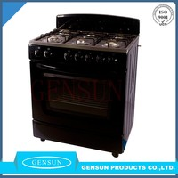 2016 home kitchen appliance 76x60cm/30inch six burner black gas cooking stoves with bakery oven prices CKD/CBU type from Gensun
