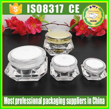 Cosmetic 2Ml Eye Cream Plastic Small Jar 10ML Empty colorful Plastic Cream Jars Containers