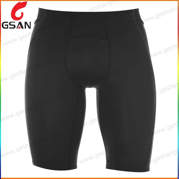 Black color mens compression shorts sport shorts
