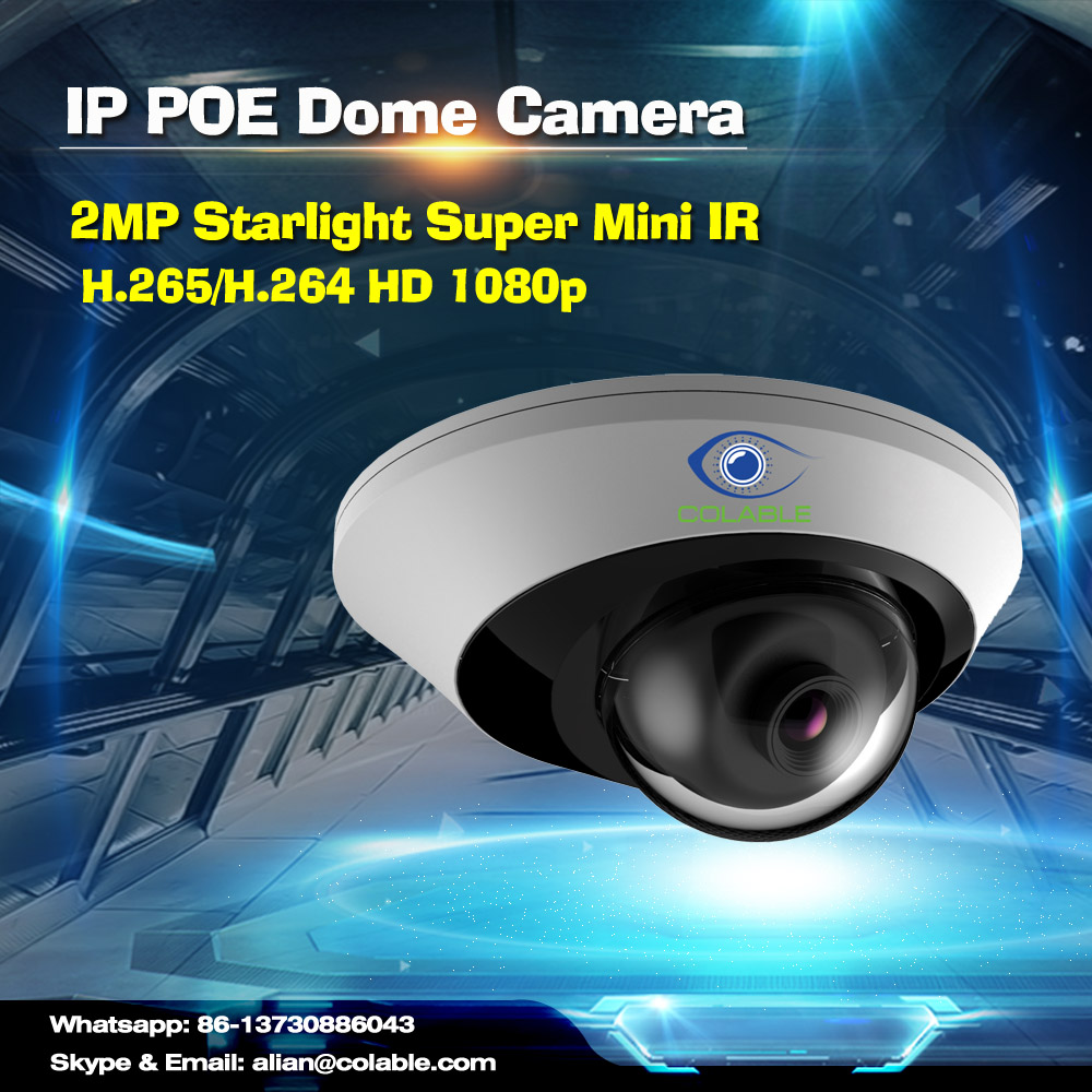 Cheap cctv h.265 2mp poe p2p onvif IR mini high speed dome wifi ip camera