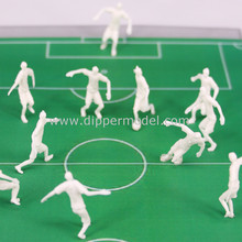 1:50 1:75 scale white ABS plastic miniature model football player figures