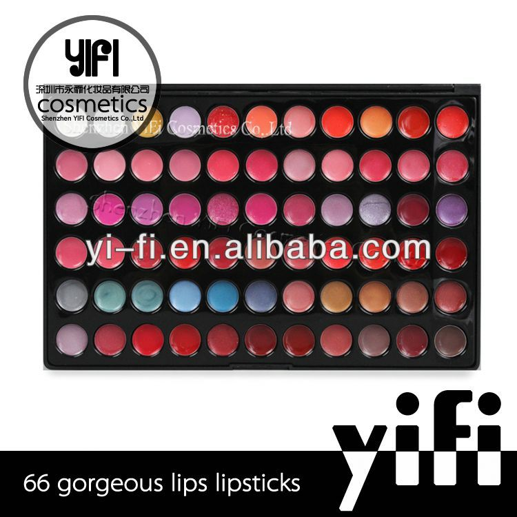 2014 new style and wholesale no logo 66 Color makeup lipstick lipgloss