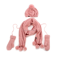 retail and wholesale factory price knitting hat glove and scarf set