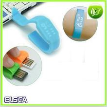 Silicone With USB Flash Memory Watch