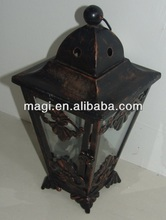 Cheap decorative retro metal lanterns in home