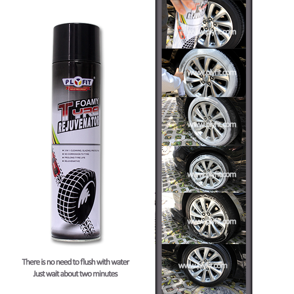 Waterless Cleaning Shine Car Tire Foam Spray Cleaner